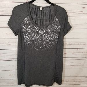 Lululemon Workout Tee 10 Grey Reflective